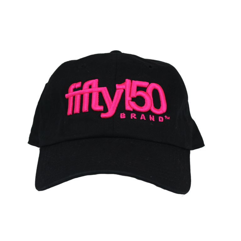 Black Dad Hat (Neon Pink Logo) - fifty150  6b14a666f59