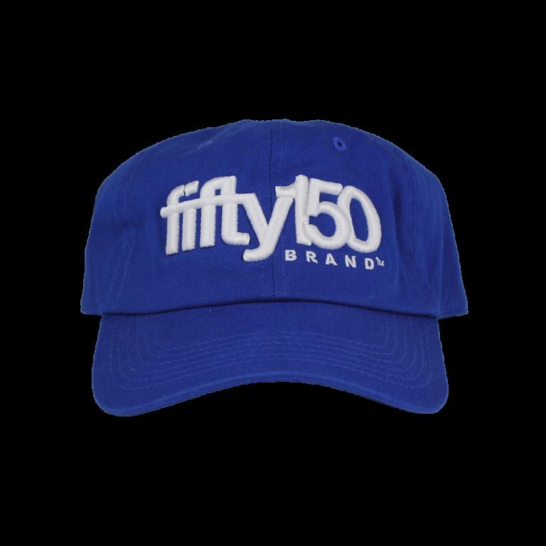 386cd8f6cc060 Royal Blue Dad Hat (White Logo) - fifty150