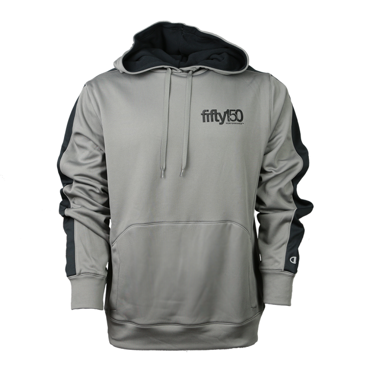 23087b685817 ... Grey Double Dry Champion Pullover Hoodie (Small Black Logo).  65.00 ...